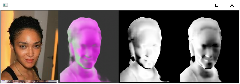 Example of generated surface normals on a face