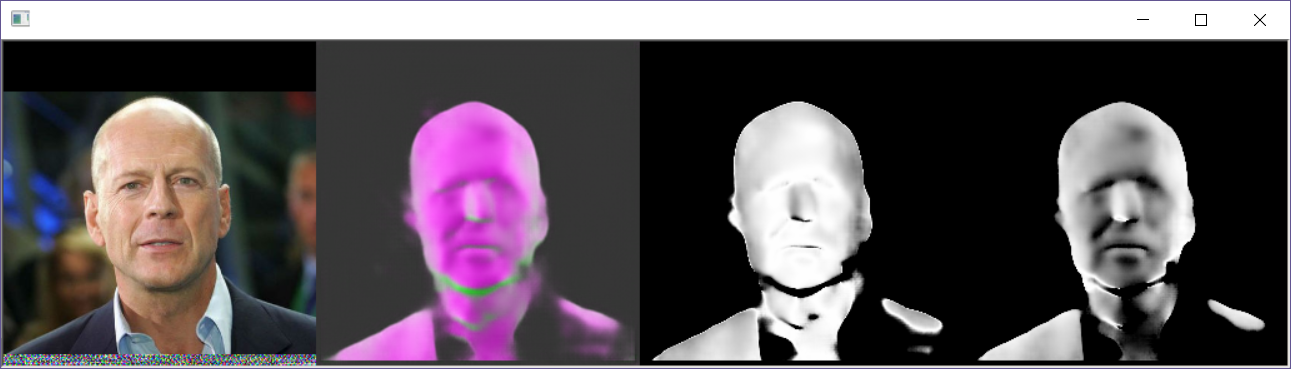 Fifth example of a generated surface normal for a face